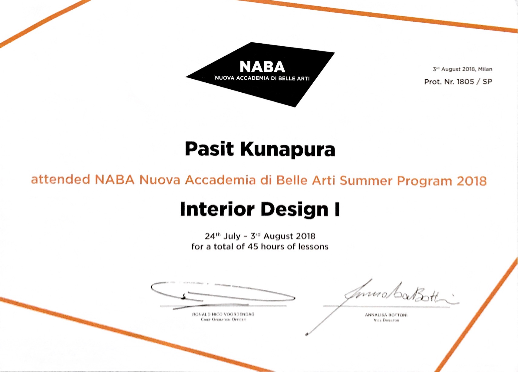 TIDA Thesis Awards 2017 : Naba Summer Course Milano Italy